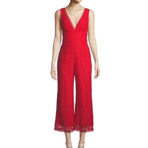 Lovers & Friends Red Lace Jumpsuit